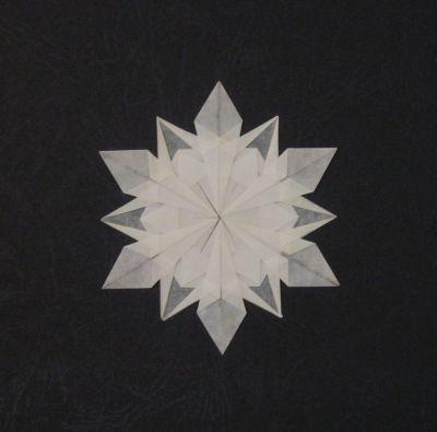 Vos pliages r cents page 6 pliage de - Flocon de neige en papier pliage ...