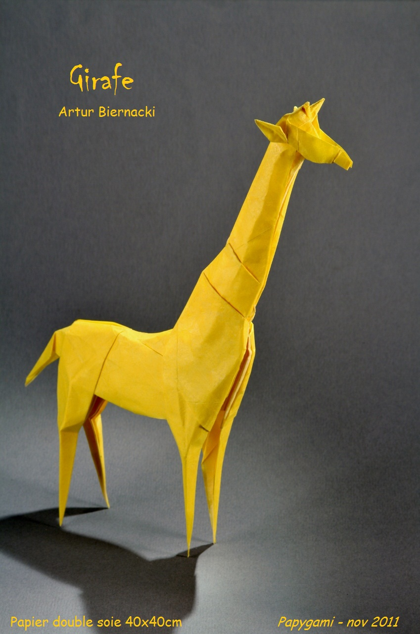 girafe origami tutorial