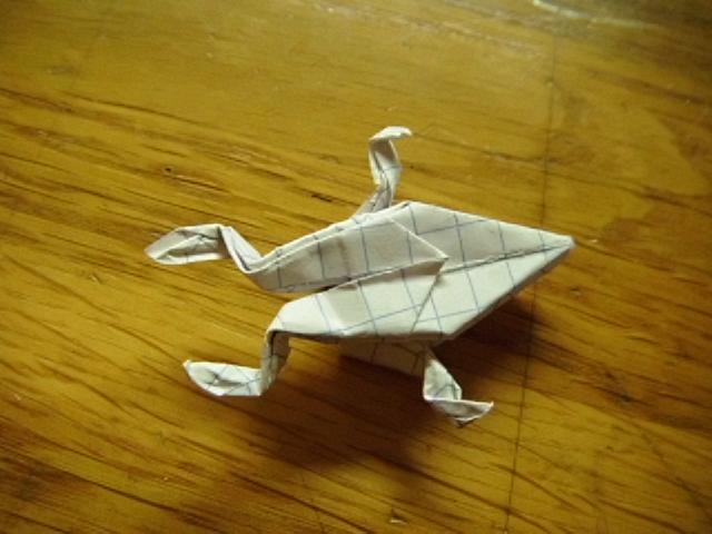 Scouarnec origami etoile 4 branches galerie de plis - Origami grenouille sauteuse pdf ...